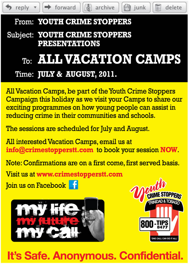 Crime Stoppers and Vacation Camps